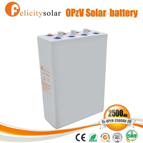 2V 2500Ah Sealed OPzV Battery Deep Cycle Power Plus Battery For Solar System